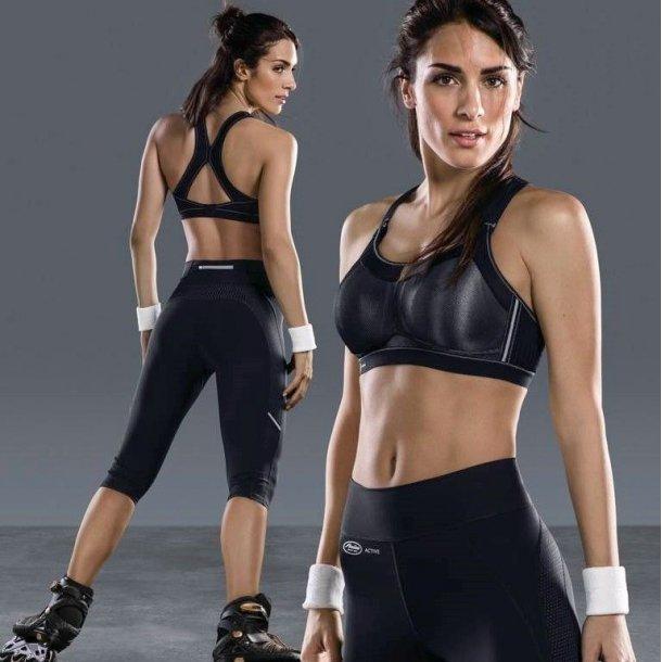 Momentum Pro Sports-bh X-ryg uden bøjle, sort