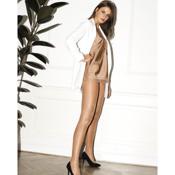 strømpebuks silk look, nude