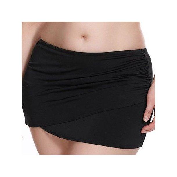 Essentials Wrap bikinitrusse med skørt, sort