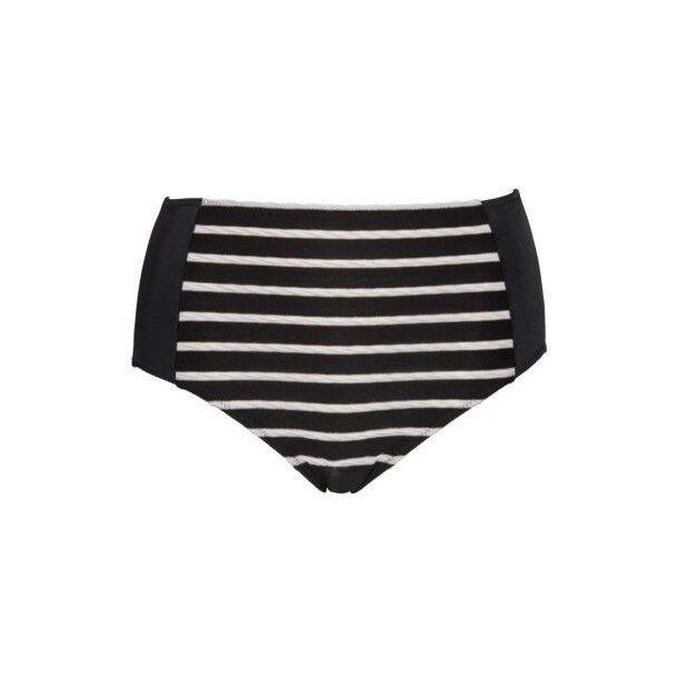 Plaisir Stripes maxi-bikinitrusse, sort