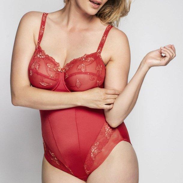 Carla bodystocking, rød