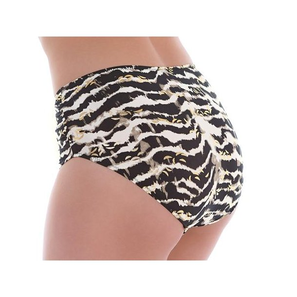 Milos Black And Cream højtaljet bikini trusse