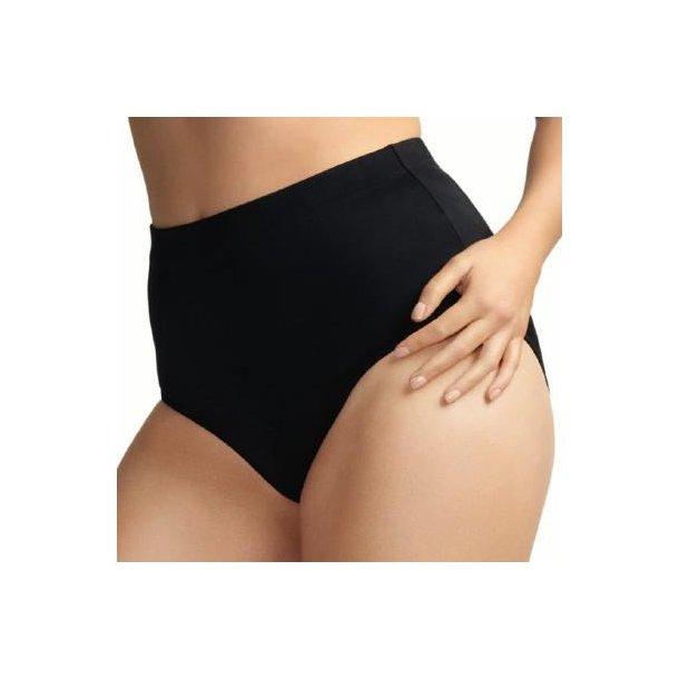 Essentials Black højtaljet classic bikinitrusse
