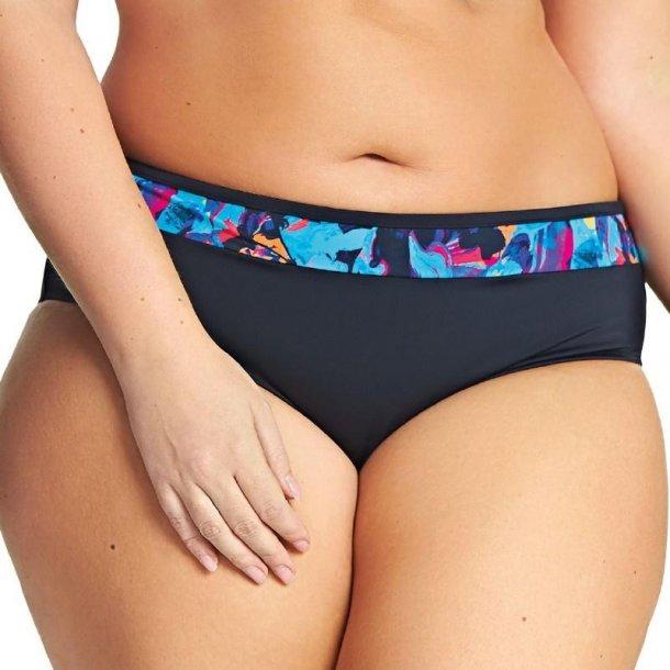 Abstract Black bikinitrusse
