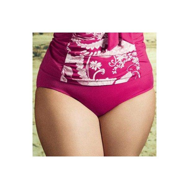 Essentials Fuchsia højtaljet classic bikinitrusse