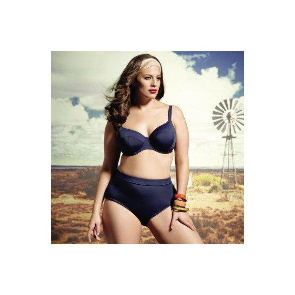 Essentials Navy højtaljet classic bikinitrusse