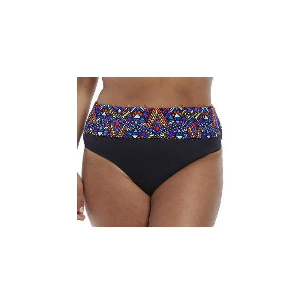 Aztec Black fold-ned bikinitrusse