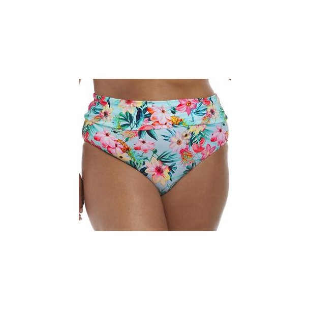 Aloha Aqua højtaljet fold-ned bikinitrusse