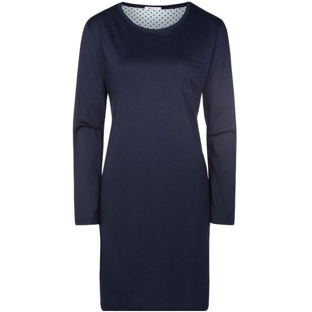 Sonja natkjole med lange ærmer, mørkeblå