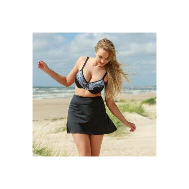 Solid Black Beach Skirt, sort